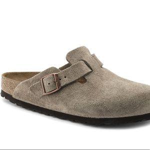 Birkenstock Boston Clog Leather Suede Sandals